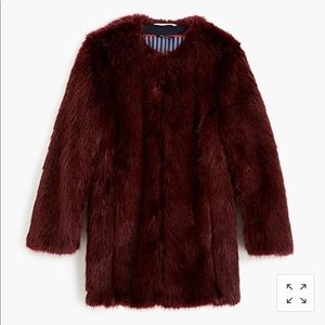 J.crew collection faux fur coat, sz s, NWT